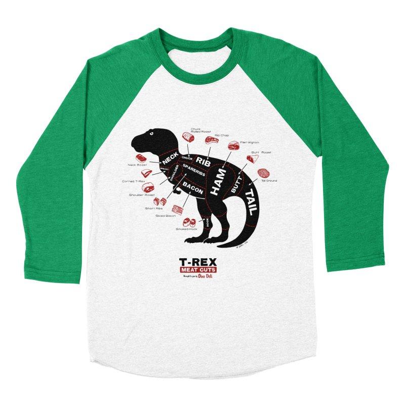 Dino Deli Men's Baseball Triblend T-Shirt by Victor Calahan