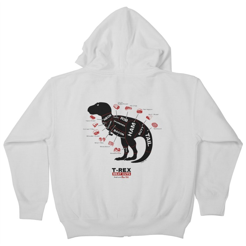 Dino Deli Kids Zip-Up Hoody by Victor Calahan