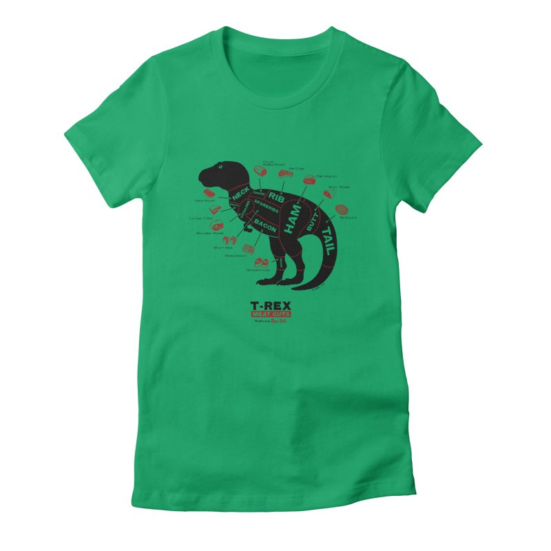 Dino Deli Women's Fitted T-Shirt by Victor Calahan