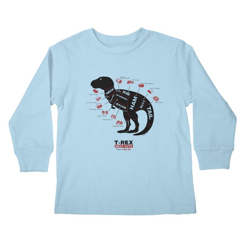 Dino Deli Kids Longsleeve T-Shirt by Victor Calahan