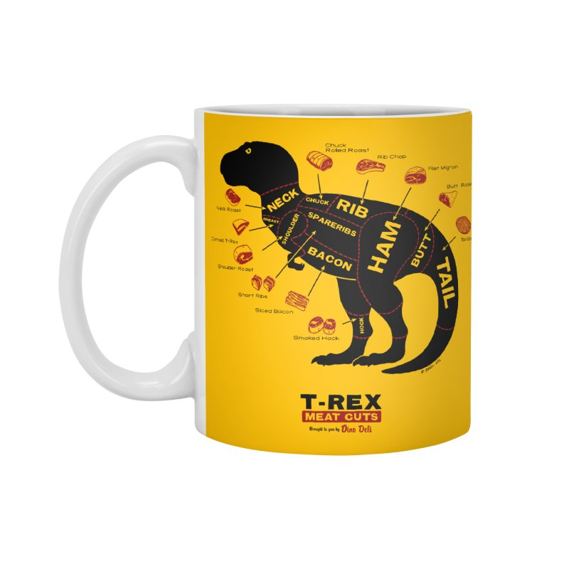 Dino Deli Accessories Mug by Victor Calahan