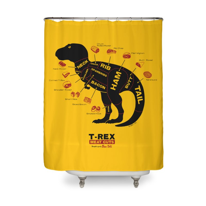 Dino Deli Home Shower Curtain by Victor Calahan