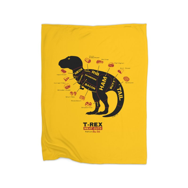 Dino Deli Home Fleece Blanket by Victor Calahan