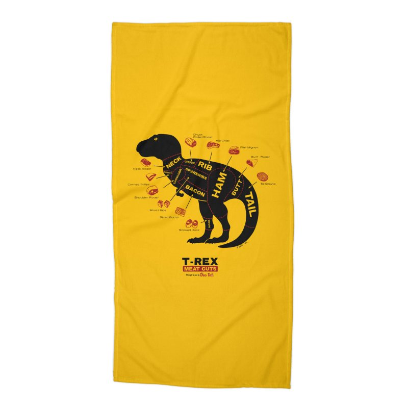 Dino Deli Accessories Beach Towel by Victor Calahan