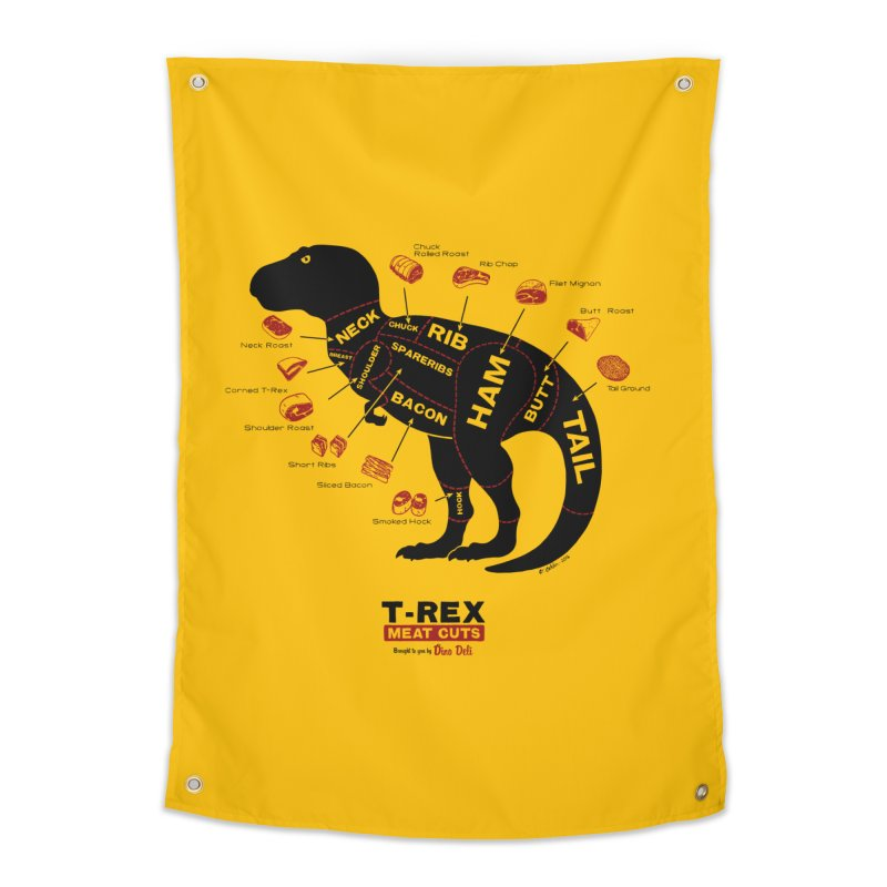 Dino Deli Home Tapestry by Victor Calahan