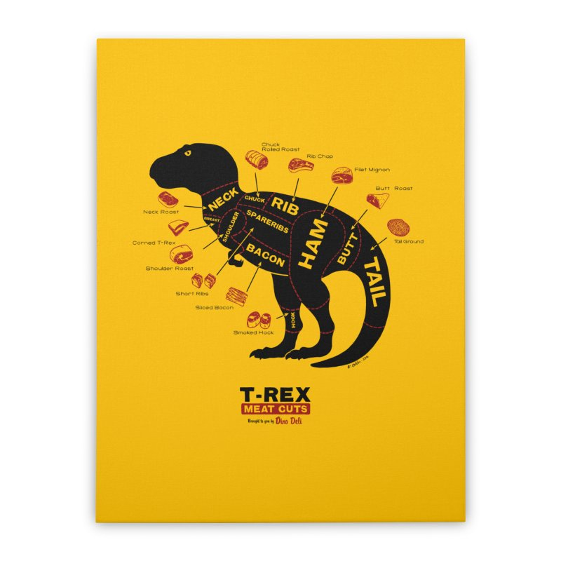 Dino Deli Home Stretched Canvas by Victor Calahan
