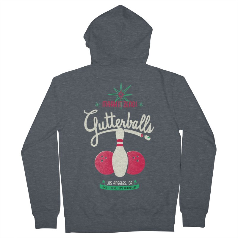 Gutterballs Men's Zip-Up Hoody by Victor Calahan