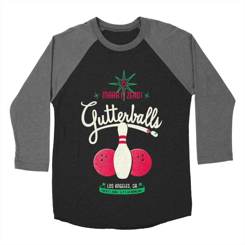 Gutterballs Men's Baseball Triblend T-Shirt by Victor Calahan