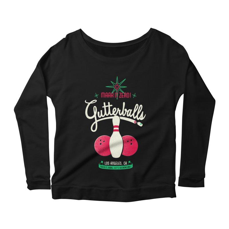 Gutterballs Women's Longsleeve Scoopneck  by Victor Calahan