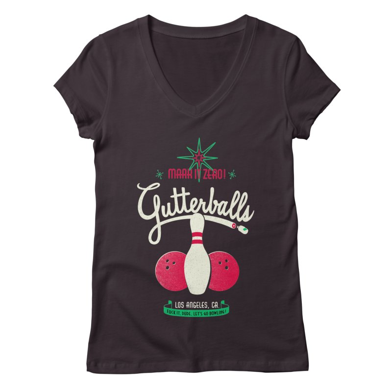Gutterballs Women's V-Neck by Victor Calahan