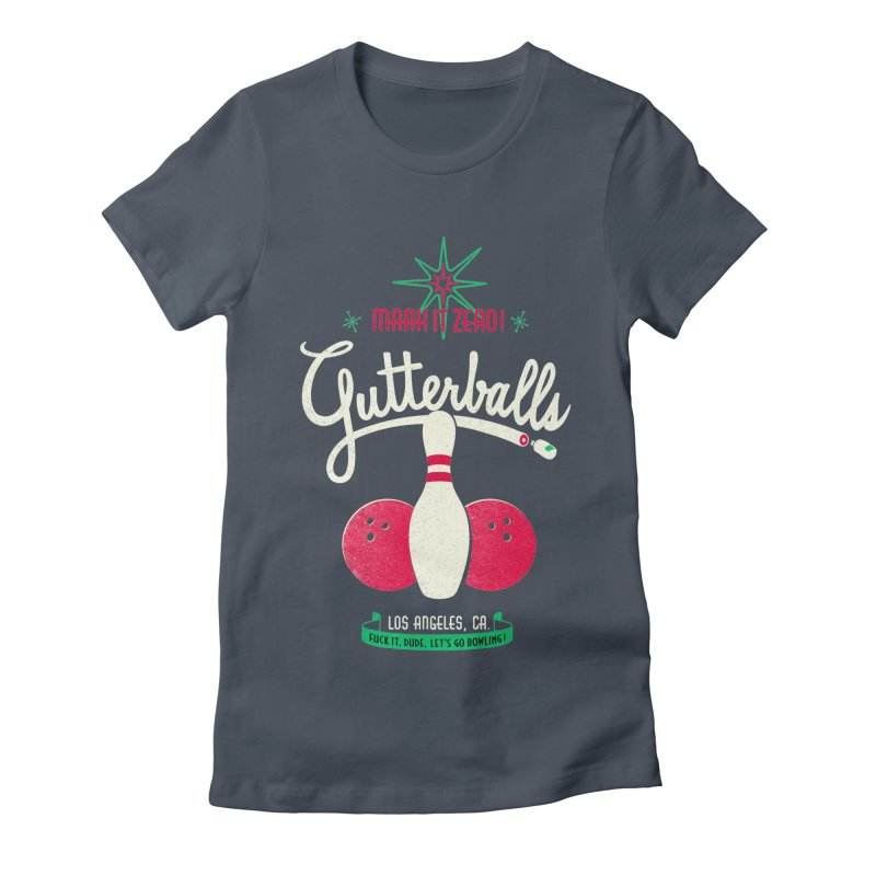 Gutterballs Women's Fitted T-Shirt by Victor Calahan