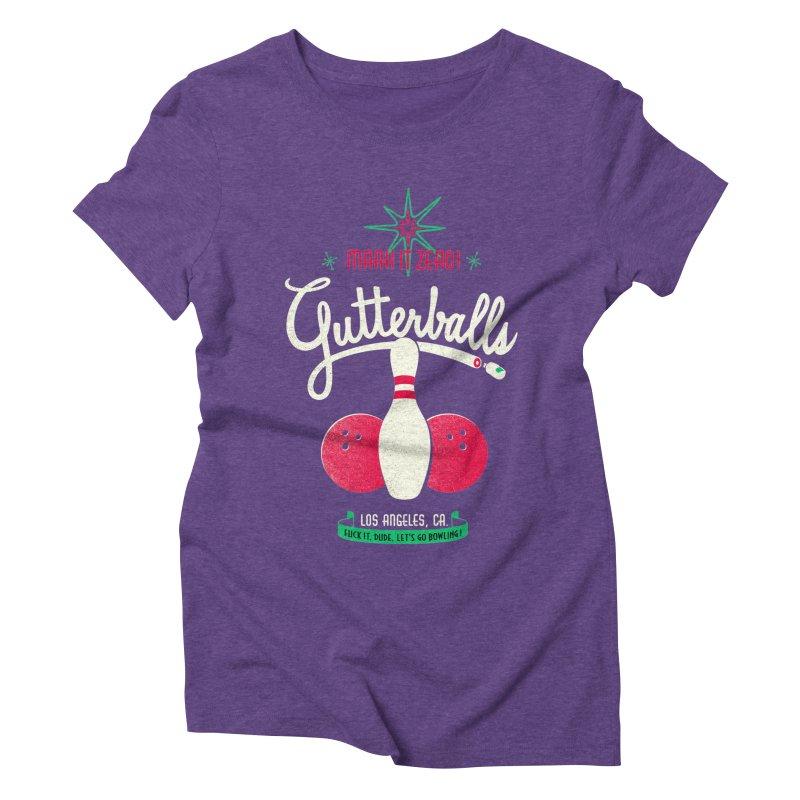 Gutterballs Women's Triblend T-Shirt by Victor Calahan