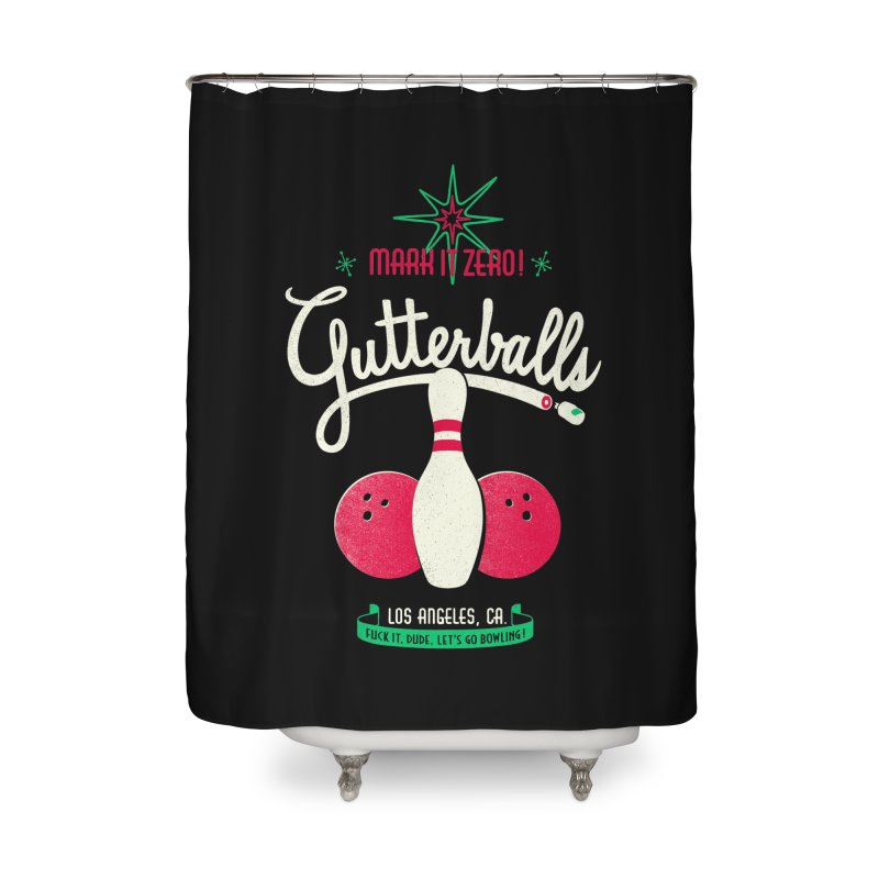 Gutterballs Home Shower Curtain by Victor Calahan
