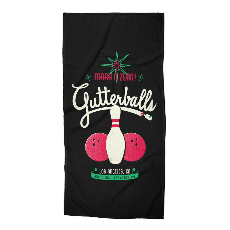 Gutterballs Accessories Beach Towel by Victor Calahan