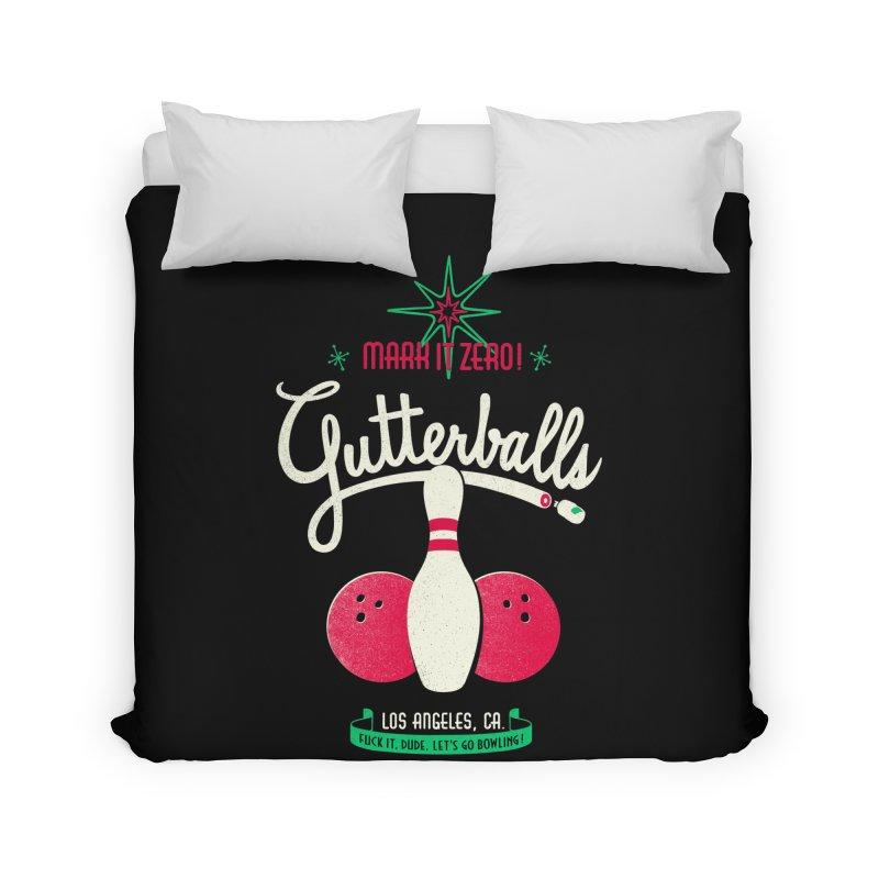 Gutterballs Home Duvet by Victor Calahan