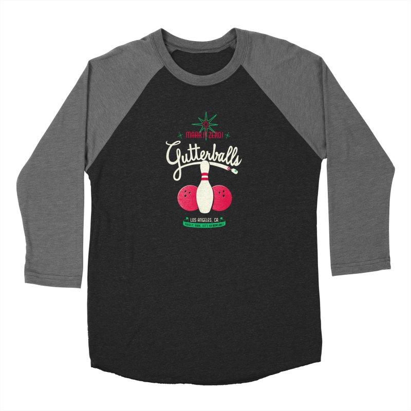 Gutterballs Women's Baseball Triblend Longsleeve T-Shirt by Victor Calahan