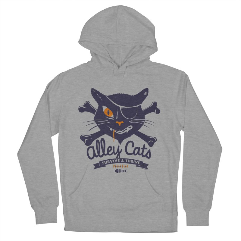 Alley Cats Men's Pullover Hoody by Victor Calahan
