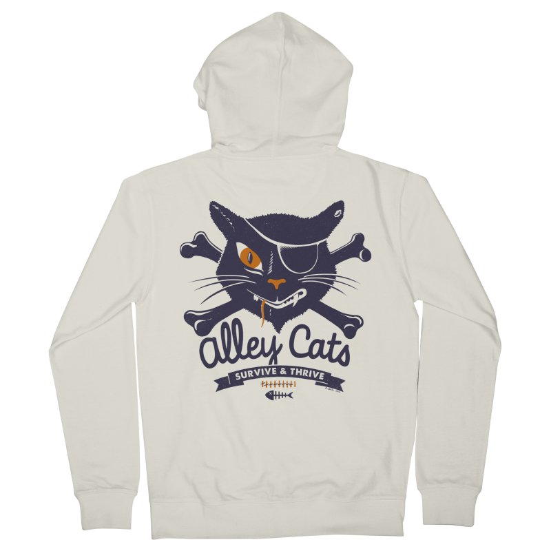 Alley Cats Men's Zip-Up Hoody by Victor Calahan