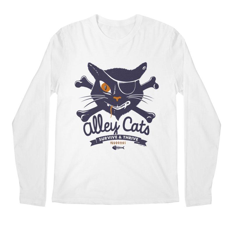 Alley Cats Men's Longsleeve T-Shirt by Victor Calahan