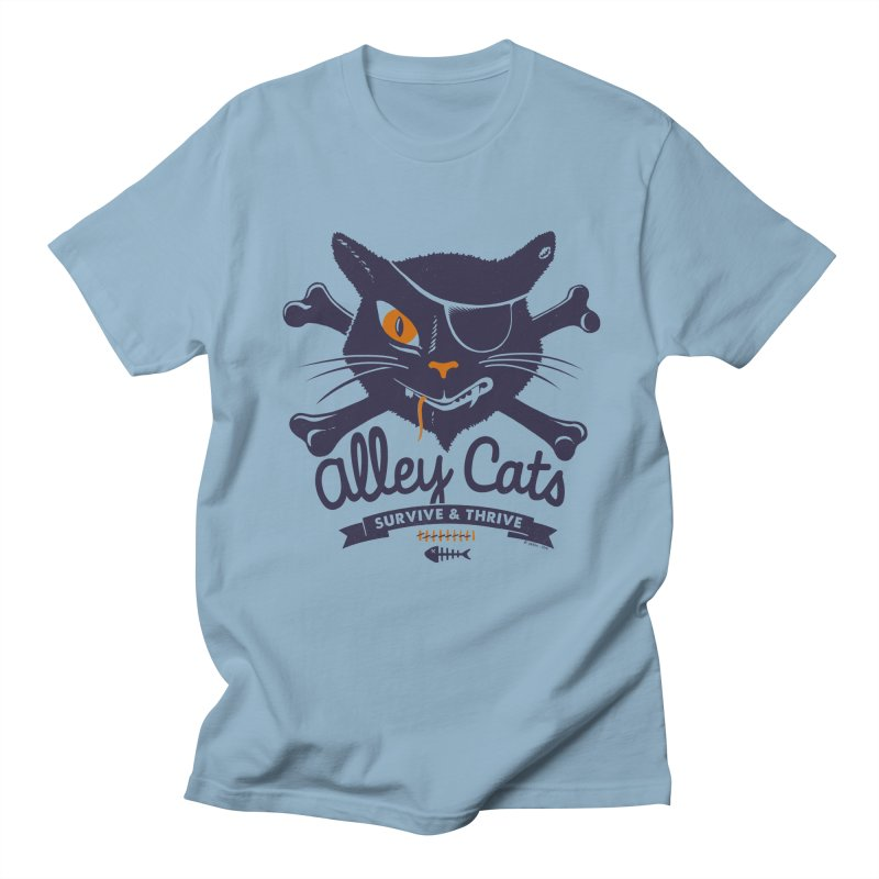 Alley Cats Women's Unisex T-Shirt by Victor Calahan