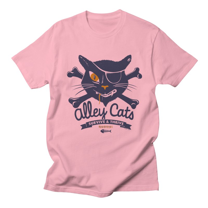 Alley Cats Men's T-Shirt by Victor Calahan