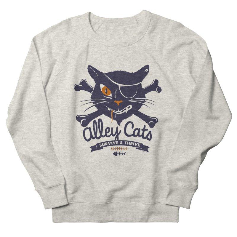Alley Cats Women's Sweatshirt by Victor Calahan