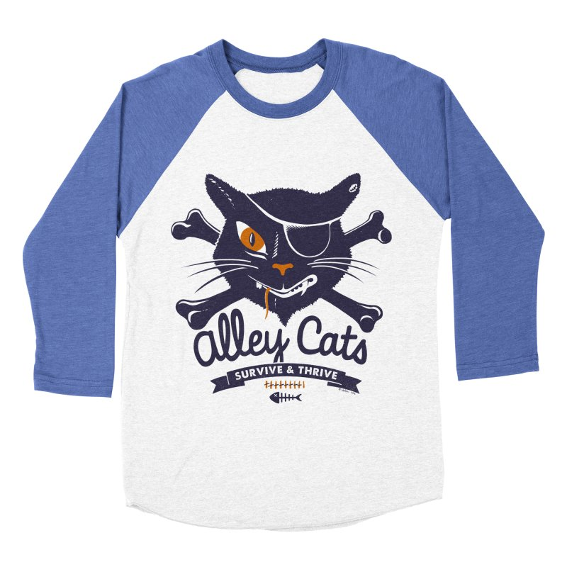 Alley Cats Men's Baseball Triblend T-Shirt by Victor Calahan