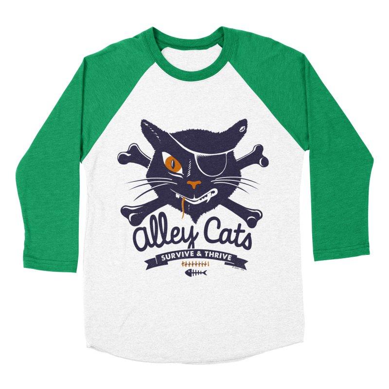 Alley Cats Men's Baseball Triblend T-Shirt by Victor Calahan