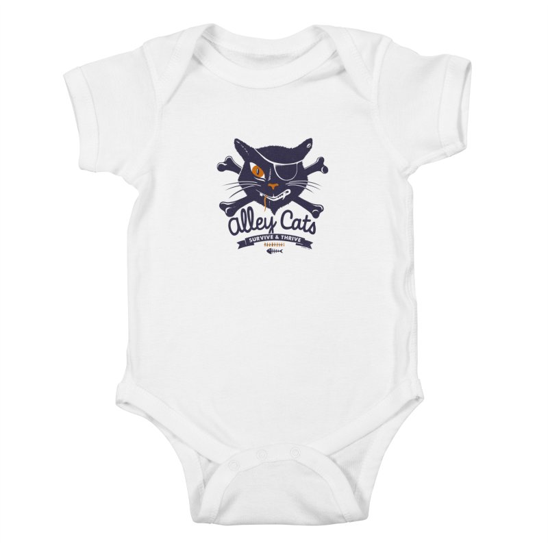 Alley Cats Kids Baby Bodysuit by Victor Calahan