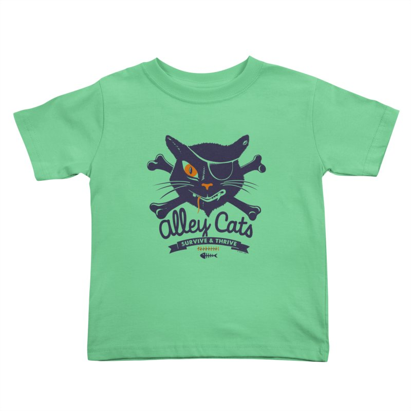 Alley Cats Kids Toddler T-Shirt by Victor Calahan