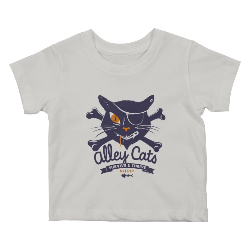 Alley Cats Kids Baby T-Shirt by Victor Calahan