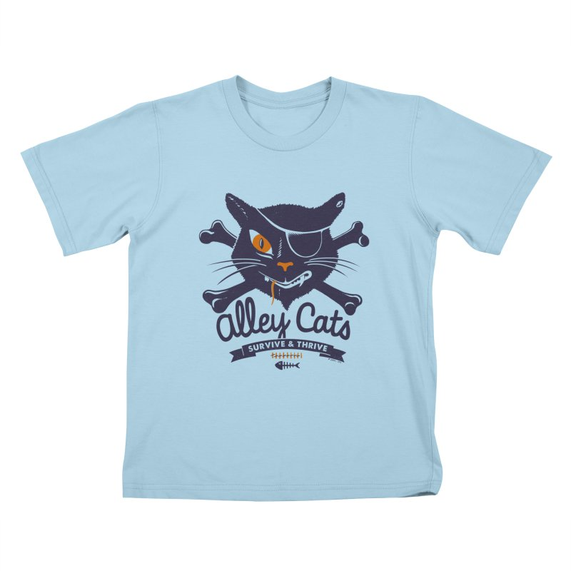 Alley Cats Kids T-shirt by Victor Calahan