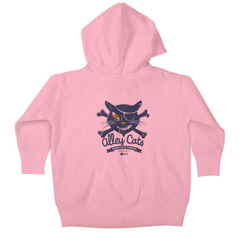 Alley Cats Kids Baby Zip-Up Hoody by Victor Calahan