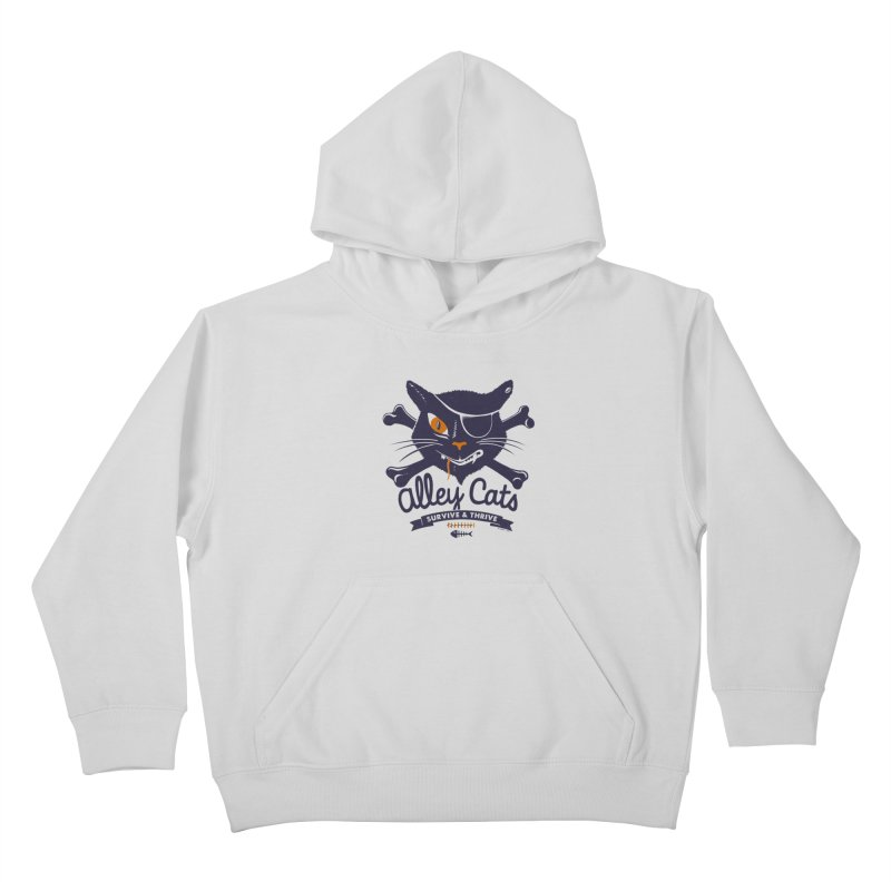 Alley Cats Kids Pullover Hoody by Victor Calahan