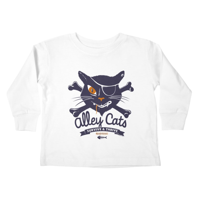 Alley Cats Kids Toddler Longsleeve T-Shirt by Victor Calahan