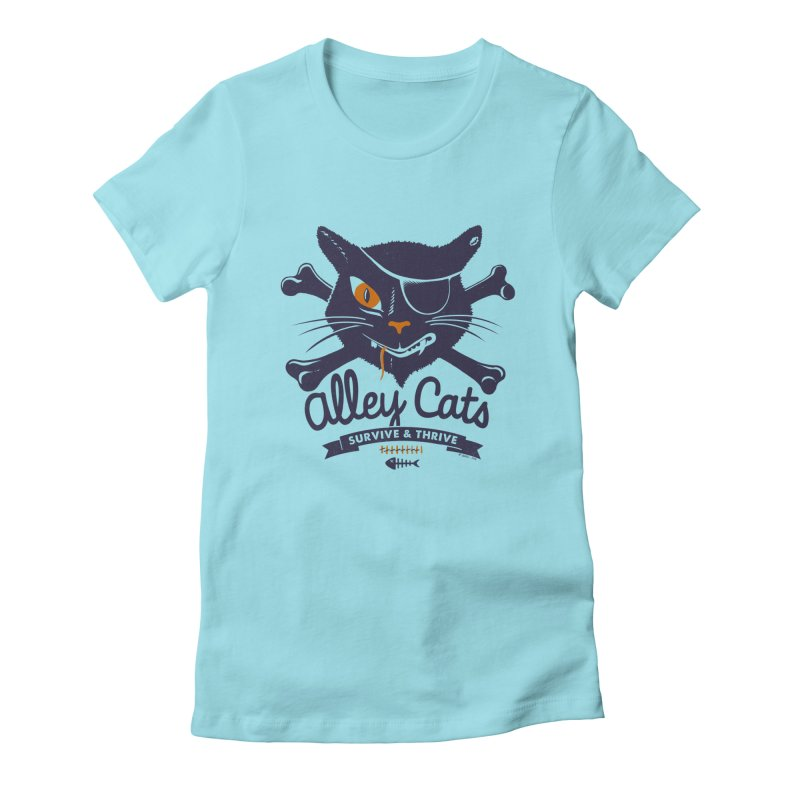 Alley Cats Women's Fitted T-Shirt by Victor Calahan