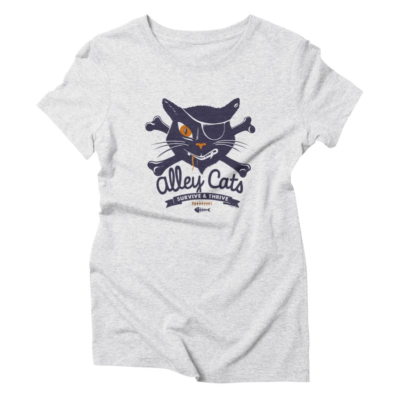 Alley Cats Women's Triblend T-shirt by Victor Calahan