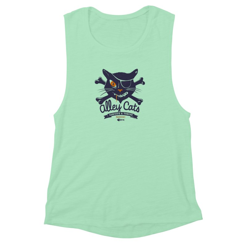 Alley Cats Women's Muscle Tank by Victor Calahan