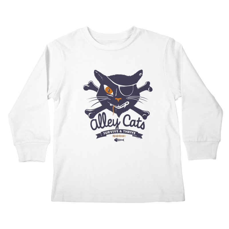 Alley Cats Kids Longsleeve T-Shirt by Victor Calahan