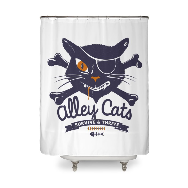 Alley Cats Home Shower Curtain by Victor Calahan