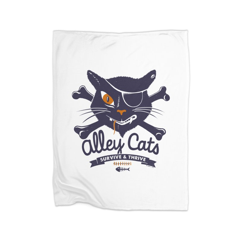 Alley Cats Home Fleece Blanket by Victor Calahan