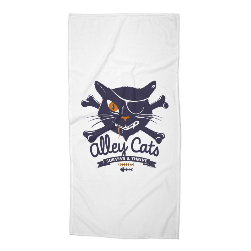 Alley Cats Accessories Beach Towel by Victor Calahan