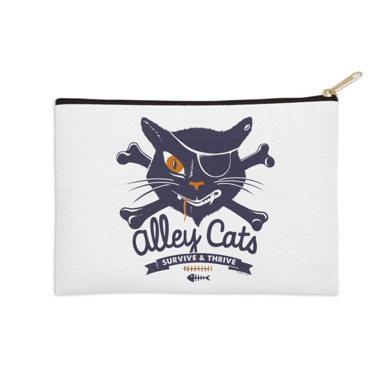 Alley Cats Accessories Zip Pouch by Victor Calahan