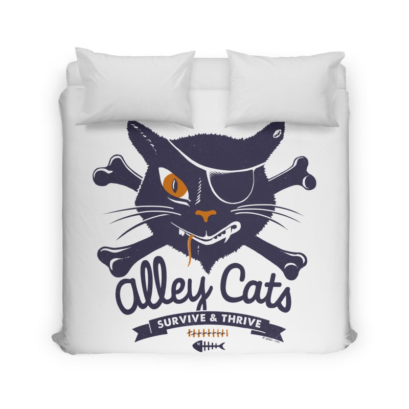 Alley Cats Home Duvet by Victor Calahan