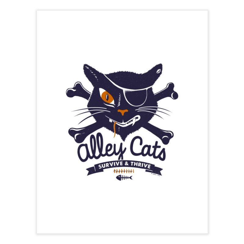 Alley Cats Home Fine Art Print by Victor Calahan