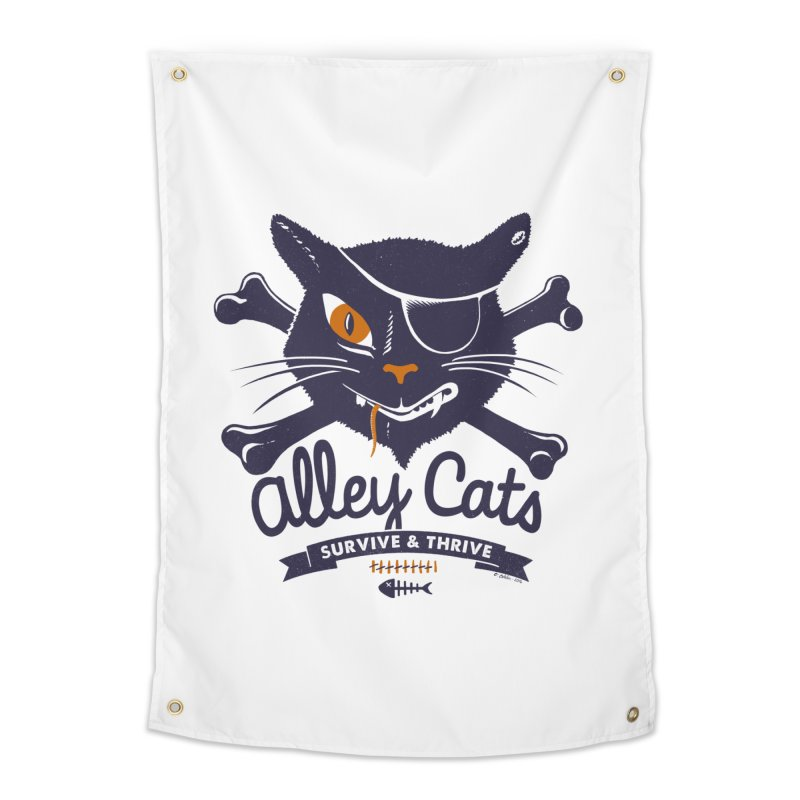 Alley Cats Home Tapestry by Victor Calahan