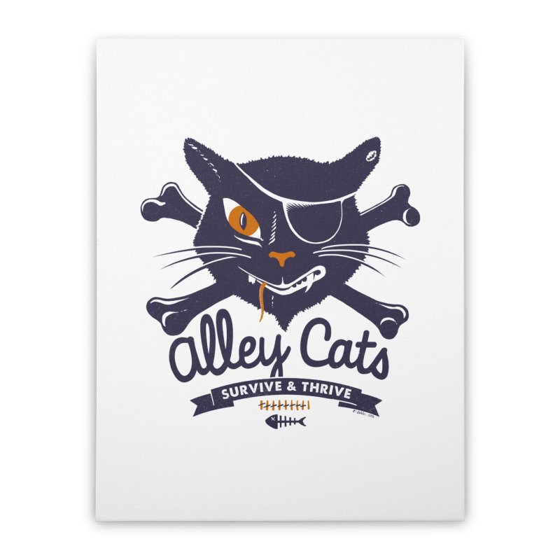 Alley Cats Home Stretched Canvas by Victor Calahan