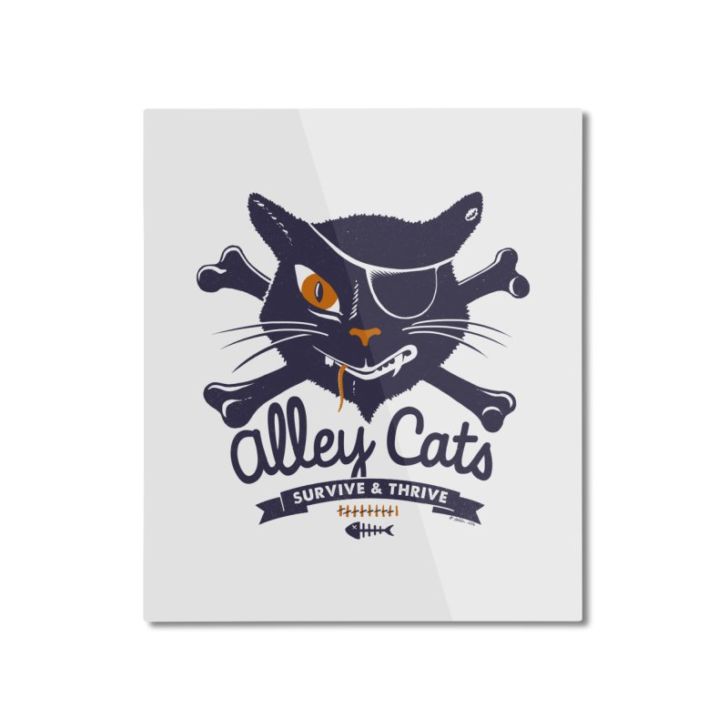 Alley Cats Home Mounted Aluminum Print by Victor Calahan
