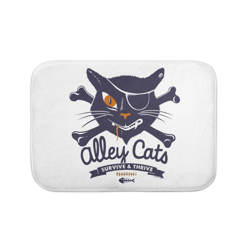 Alley Cats Home Bath Mat by Victor Calahan
