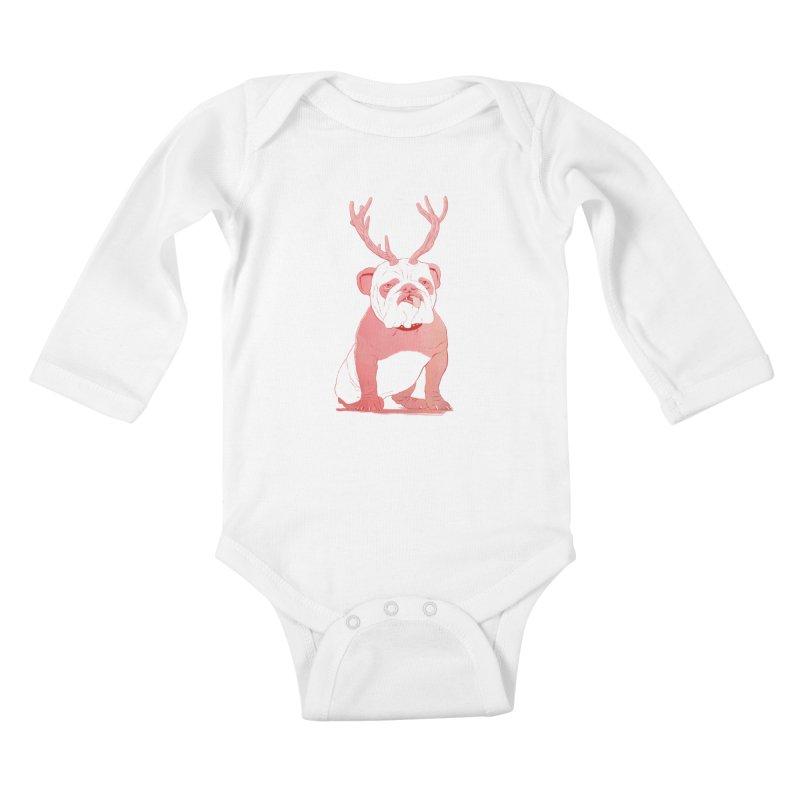 Bull 2.0 Kids Baby Longsleeve Bodysuit by Victor Calahan